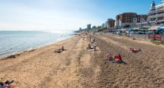 Een dagje strand in Southend on Sea